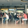 The first floor is transformed into a big hawker centre with over 80 stands.