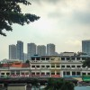 Tiong Bahru shophouses against skyline